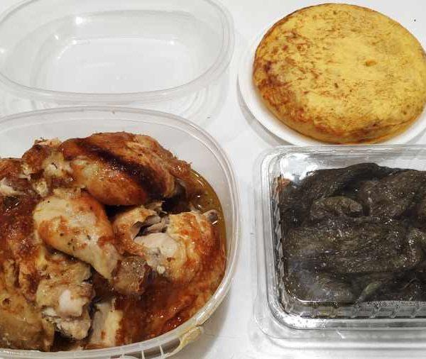 Combo Nº 3 Pollo Blanco Asado + Tortilla de patatas + Ensalada Mixta comida para llevar en rivas chicken